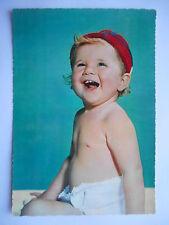 """CPSM """"Bébé au bonnet rouge"""""""
