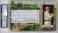 2015 HA Originals 1909-1912 Recruit Card Larry Gardner AUTO PSA/DNA 6/9