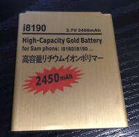 Gold Battery 3.7v 2500mah Samsung Galaxy Ace 2X S3 Mini Duos GT-S7560M GT-I8190N