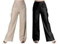 Hell Bunny Bear  Retro Vintage Trouser XS-4XL