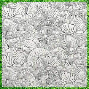 IKEA SVAMPMAL Fabric, White/Black150 Cm *BRAND NEW*