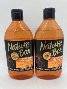 2 Nature Box Cold Pressed Apricot Oil Body Wash Gel 13 oz Each