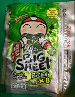 TAO KAE NOI Classic Flavour Crispy Seaweed Snacks BIG SHEET with Zip Lock 31g.
