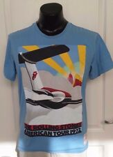 Rolling Stones AMERICAN TOUR 1972 Rift Stars Blue T-Shirt 50 Years Rock & Roll