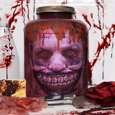 "Twisty The Clown ""Head in Jar"" Halloween/Horror Prop/Decor-  Fresh Red Version"