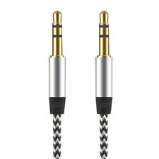 3.5mm Male To Male Phone Car Nylon Plated Stereo AUX Headphone Jack Audio Cable