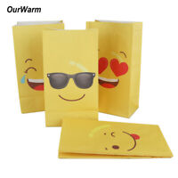 36×Emoji Paper Goodie Bags Party Treat Bags Emoji Gift Bags for kids DIY Craft