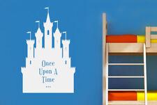 Once Upon A Time Fairytale Castle Vinilo Pegatinas De Pared Adhesivo Decoración