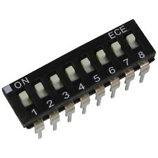 2 ECE eah-108-ez DIP switch 8 PIN IC 24v DC 25ma dil switch RM 2,54 855904