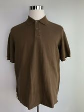 Tommy Bahama Men's Polo Shirt L Large Solid Brown Short Sleeve