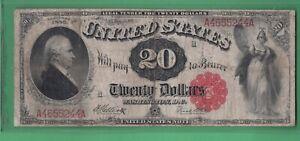 ***  1880  $20.00 U S NOTE LEGAL TENDER   ***