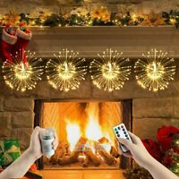 4 Pack Hanging Firework 180LED Fairy String Light 8 Modes w/ Remote Party Decor