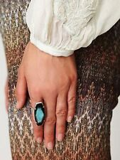NEW CHAN LUU Suwanee Sterling Silver AGATE Long Statement Ring 7 Free People
