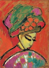 Alexej von Jawlensky Young Girl with a Flowered Hat Giclee Paper Print Poster