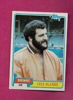 1981 TOPPS # 505 BROWNS LYLE ALZADO NRMT CARD (INV# A6264)