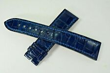 CORUM ROYAL BLUE CROCODILE LEATHER STRAP FITS 21 MM MODELS MINT CONDITION