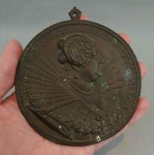 rare médaille médaillon en bronze Guillaume Dupré 1624 Marie de Médicis medal