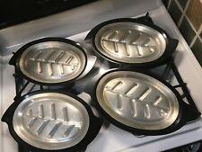 Sizzler Steak Fajita Serving Platters with Holders (Set of 4)