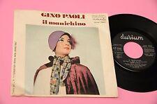 """GINO PAOLI 7"""" IL MANICHINO ORIGINALE 1974 RARISSIMO TIRATURA MOLTO BASSA !!!"""
