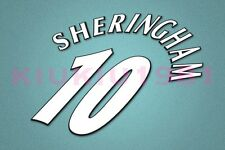 Manchester United Sheringham #10 Champions League 97-06 White Name/Number Set