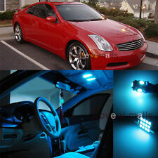 Ice Blue Light Bulb SMD Interior LED Package Kit For  Infiniti G35 Coupe 03-07