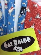 Retro VINTAGE FABRIC BABY BLANKET Blue Red CAT BALOO CLOWNS New Gift RETRO Boy