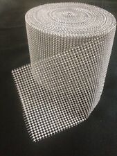 1 METRE WEDDING CAKE BLING TRIM DIAMONTE SPARKLY RIBBON  Silver 16 ROWS/50MM