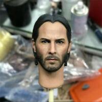 1//6 sca fast hunting kill god Keanrivis male head Sculpt carve model Fit 12Inch