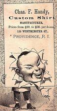 1880's Chinese Man China Chas. F. Handy Trade Card P4