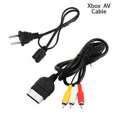 AV Cable & AC Power Cord XBOX Original (A/V Audio Video, Adapter Supply)