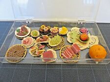 Lot of 16 Vintage Dollhouse Food Plates/Platers Miniatures Collectible D1