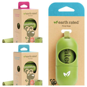 Earth Rated Dog Puppy Poo Bags Poop Waste Refill Roll Lavender/Unscented - NEW