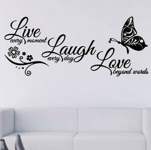 Live Laugh Love In Decor Decals Stickers Vinyl Art For Sale In Stock Ebay