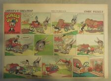 Donald Duck Sunday Page by Walt Disney from 11/22/1942 Half Page Size