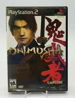 Onimusha: Warlords (Sony PlayStation 2, PS2 2002) Black Label Complete in Box