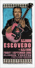 Alejandro Escovedo Alela Diane Poster Signed Ltd Silkscreen by Gary Houston