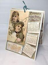 RARE 1890 RUMFORD YEST POWDER ADVERTISING CALENDAR FOUR SEASONS MINT