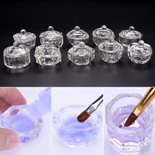 Clavo De Taza De Vidrio Cristal Acrílico Polvo Líquido Recipiente Tazón Plato herramienta de Arte en Uñas
