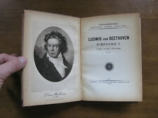 LUDWIG van BEETHOVEN Symphonie V - 1930's - Vienna Orchestra PORTRAIT frontis