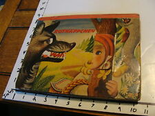 vintage 1960 Pop Up book, ROTKAPPCHEN little red ridding hood, cool but wear
