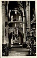 1939 Stempel FREIBERG auf AK Sachsen Altar Kreuzigungsgruppe im Dom Postkarte