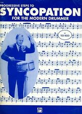 Progressive Steps To Syncopation For The Modern Drummer-Ted Reed 1996 Vg+