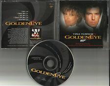TINA TURNER Golden Eye 5TRX w/ 2 EDITS & 3 MIXES PROMO DJ CD Single James Bond