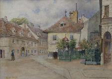 Carl WEISS (1860-1931) Alt Wien, Grinzing.