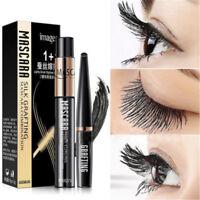 2pcs 4D Silk Fiber Eyelash Mascara Extension Curl Waterproof+Lash Mascara Set
