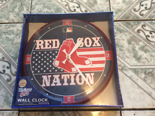 "BOSTON RED SOX NATION WINCRAFT 12"" WALL CLOCK,2004,2007,2013 WORLD SERIES CHAMPS"