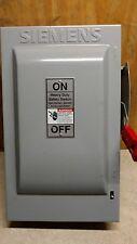 Siemens Heavy Duty Safety Switch Cat No. HF362 60a 600Vac 600Vdc