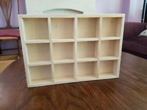 XLARGE wooden shelf shelving unit shop bookcase modern for dolls house