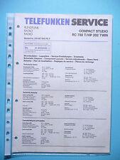 Service Manual Instructions for Telefunken RC 780 T / HP 202 Twin, Original