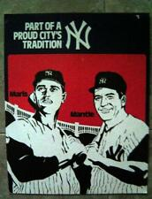 New York Yankees Mickey Mantle Roger Maris Cardboard Advertising Poster 11 x 14